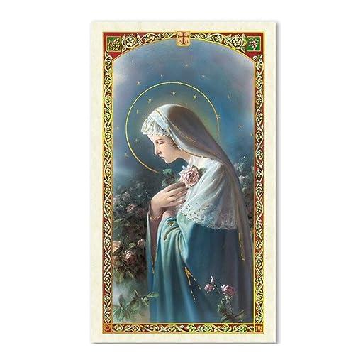Gifts by Lulee, LLC Oracion a Maria Rosa Mistica Tarjeta De Rezo Laminada Bendita Por Su Santidad Francisco
