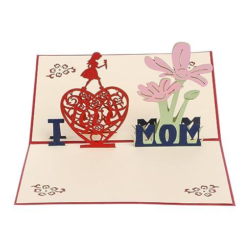 KinderALL Tarjeta del Día de la Madre Tarjeta de ...