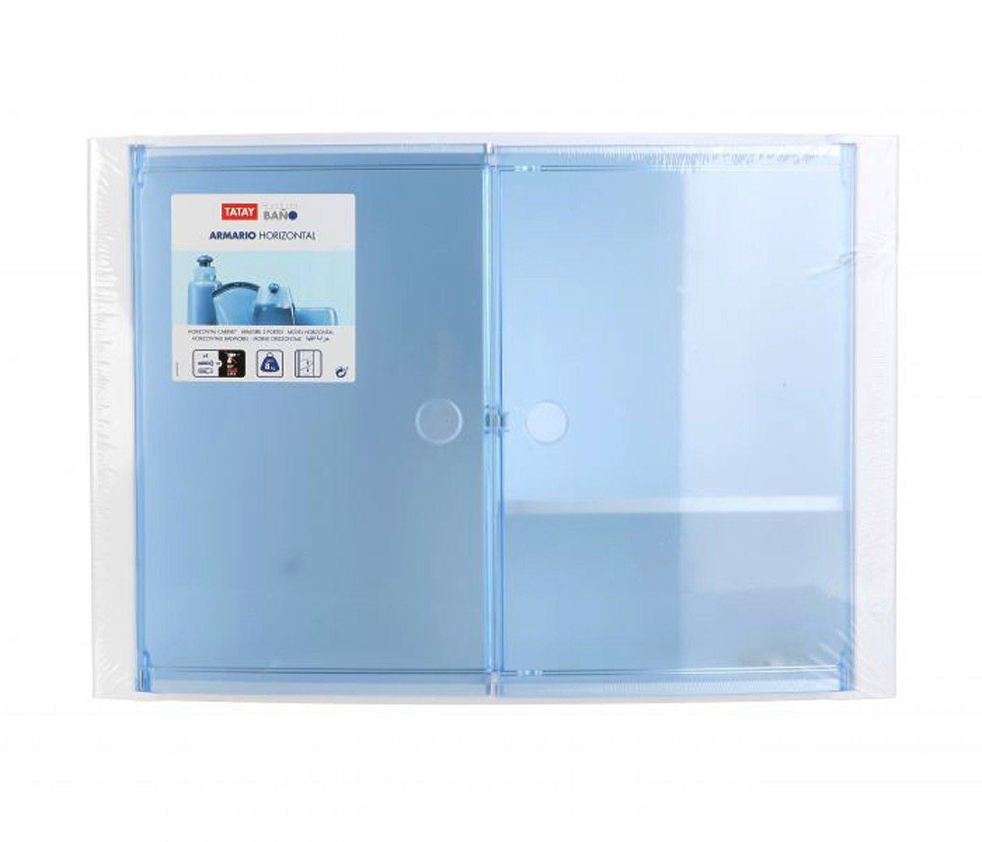 46x15.5x32 cm Tatay 4480200 Armario de Ba/ño Horizontal Azul Pl/ástico y Polipropileno
