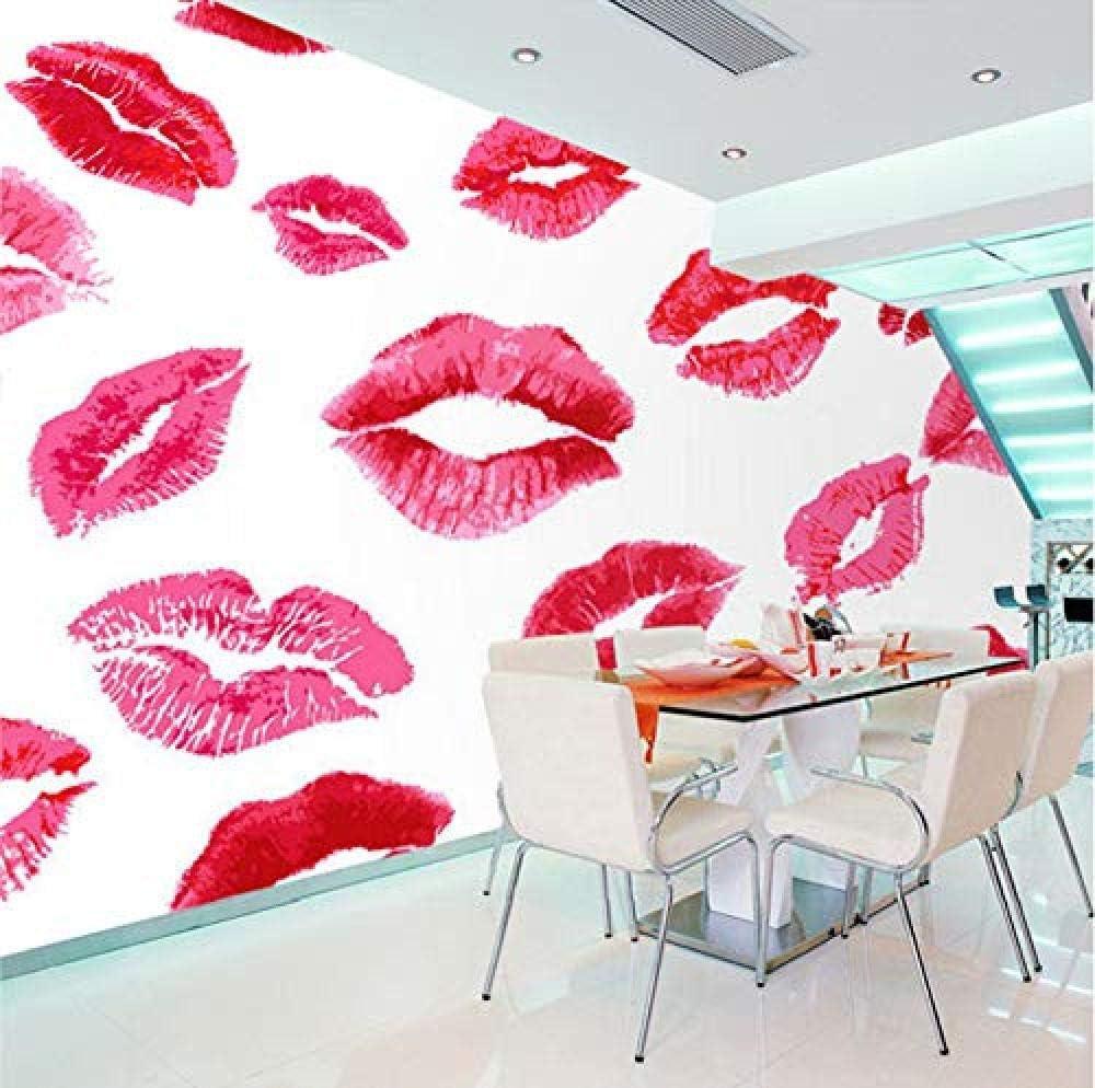 Amazon Co Jp Hxcok 3dステッカー壁の壁画の壁紙の装飾ピンクのロマンチックなリッププリントの女の子のリビングルームの背景環境アートキッズルームのキッチンの装飾 4x260cm Diy 工具 ガーデン