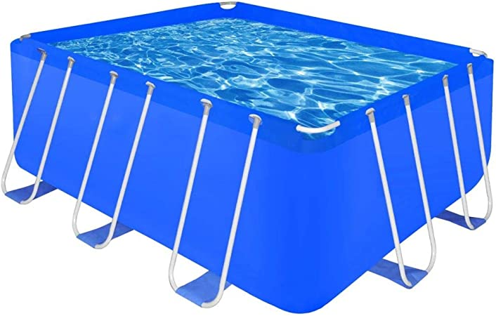 vidaXL Piscina Rectangular Desmontable 400x207x122 cm Jardín Patio ...
