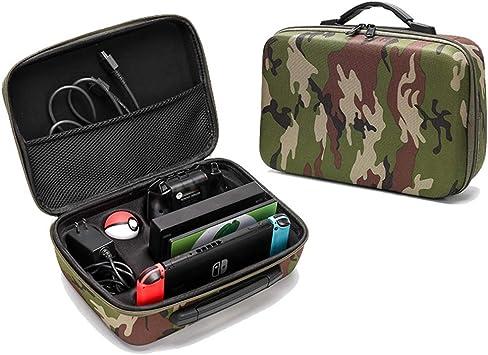 WUZHENG Maletín de Transporte para Nintendo Switch, Bolsa de Caja de Viaje a Prueba de Golpes para Nintendo Switch Console: Amazon.es: Deportes y aire libre