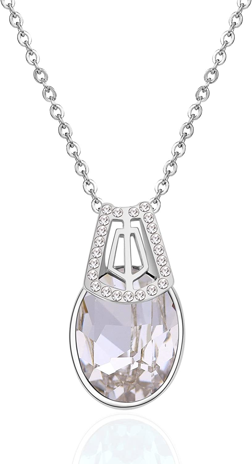 Collocation-Online High-end Accessories Austrian Crystal Necklace Acacia Language Short Paragraph Pendant Jewelry