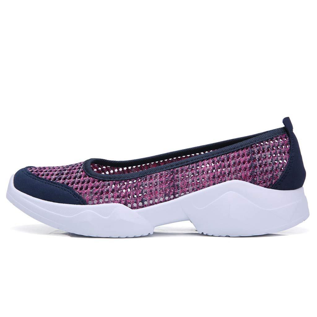 YWLINK Zapatos Mujer,Fondo Blando Antideslizante Transpirable Zapatillas De Deporte Ocio Ciclismo Zapatos De Playa Yoga C/óModo El Baile Fiesta De Acampada