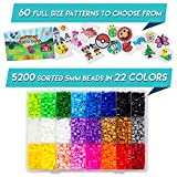 5200 Fuse Bead Set for Kids 5mm 22 Colors 80 Full