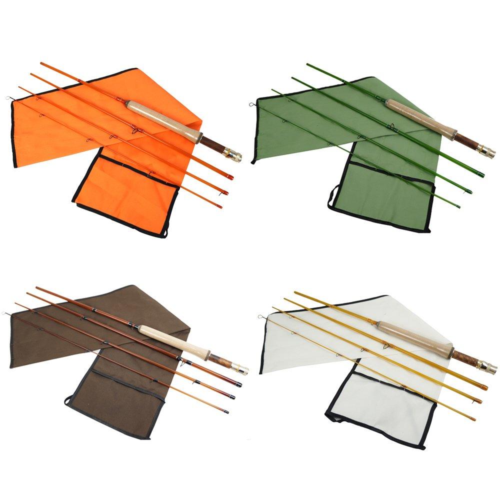 Riverruns Fly Fishing Rods Z Super Fiber Glass Fast Rod 4pc 6 6 LW3, 7 7 LW4, 8 1 LW5 Ultra Light Classic Medium Fast Action