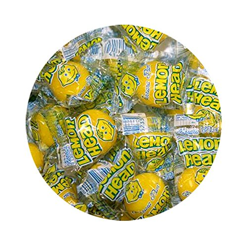 (Lemonhead Lemon Candy, Medium Wrapped - 3 LB Bulk Bag)