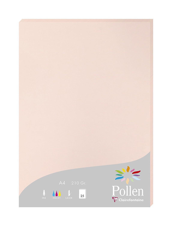 Cappuccino 21.3 x 10.6 cm Clairefontaine confezione da pz 25 Pollen 1586C Biglietto