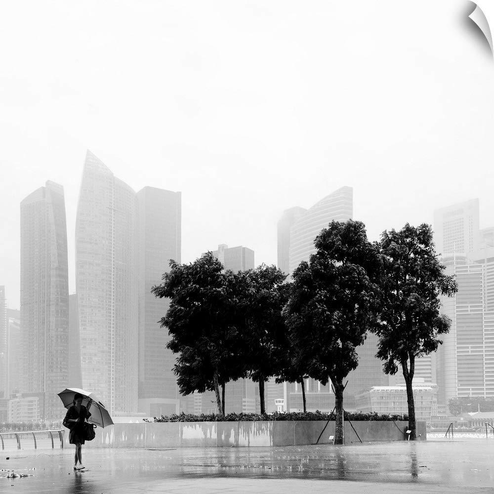 Amazon com canvas on demand nina papiorek wall peel wall art print entitled singapore umbrella 10x10 kitchen dining