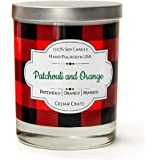 Patchouli and Orange | Patchouli, Orange, Mango | | Buffalo Plaid Luxury Scented Soy Candle | 10 Oz. Glass Jar Scented Candle | Made in the USA | Decorative Candles | Best Smelling Candles for Home