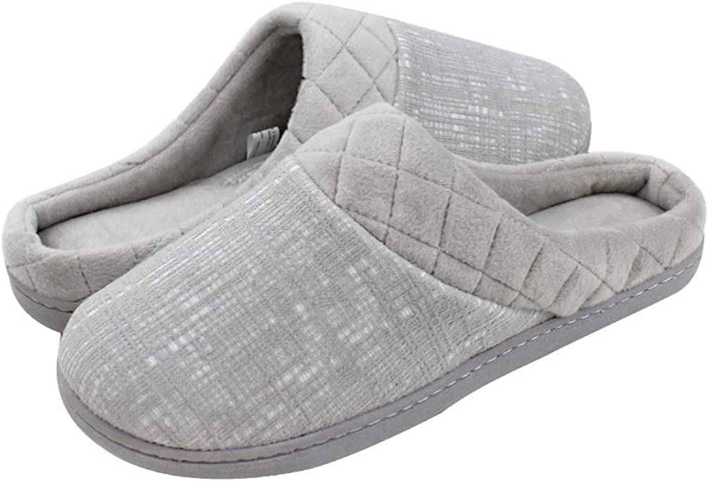 Magtoe Women's Memory Foam Slip On Home Arch Support Slippers Clog Non Skid Indoor & Outdoor