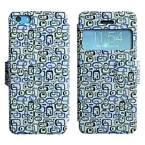 LEOCASE forma linda Funda Carcasa Cuero Tapa Case Para Apple iPhone 5C No.1006102