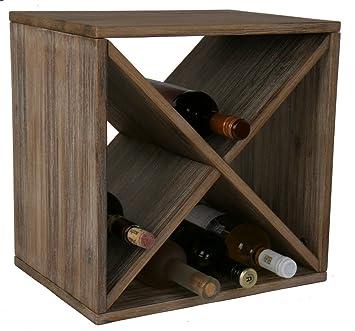 acacia wood wine rack solid bottle rack for up to bottles - Wooden Wine Rack
