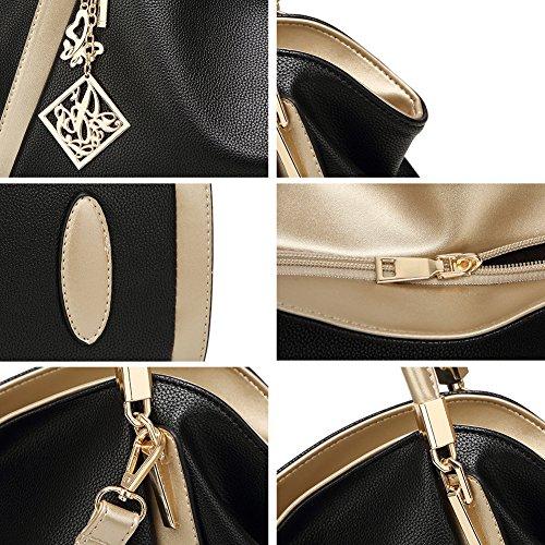 Handbag Designer Leather Vegan Bag DALFR Gray Tote Oversize Purse Shoulder Women Crossbody qtB7XXTw