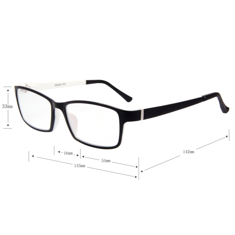 64b413227ee Amazon.com  LIANSAN Womens Optical Glasses Mens TR Frames Non Prescription  Eyeglasses TR8630 Black  Health   Personal Care