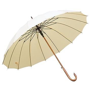 Protección solar a prueba de viento grande Sombrillas durables fuertes al aire libre Manija de madera