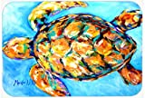 Caroline's Treasures Sand Dance Turtle Glass Cutting Board, Large, Multicolor