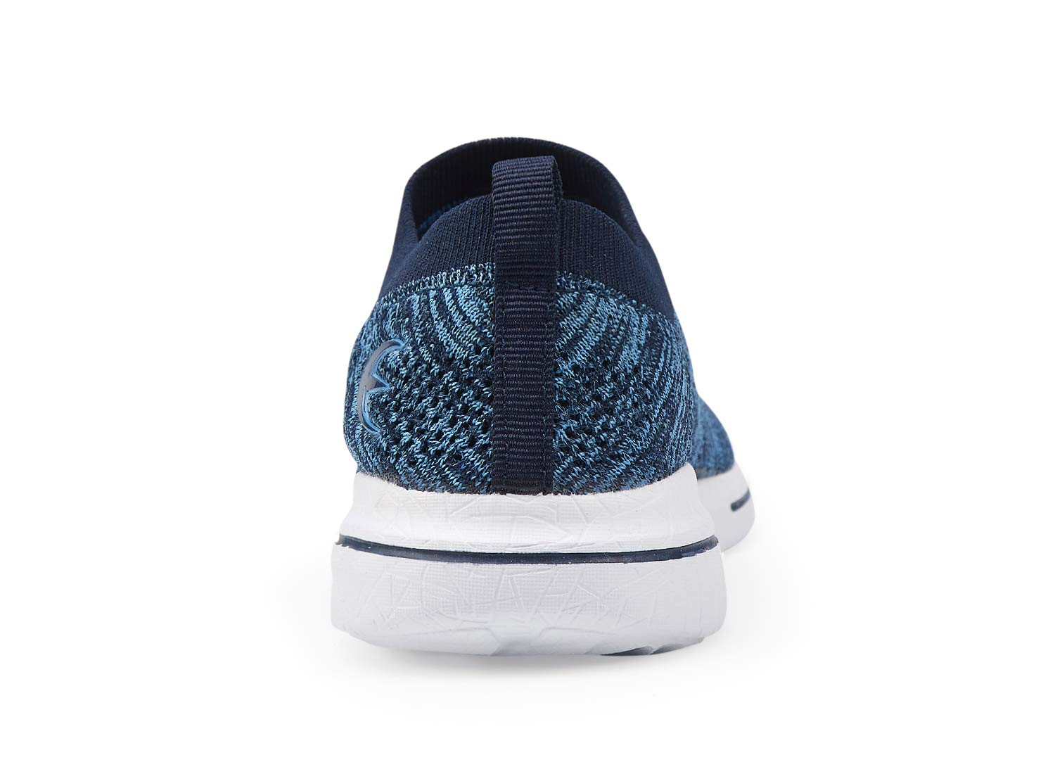 Women's Slip-On Sneakers Mesh Loafer Casual Beach Street Walking Shoes (7 B(M) US, Blue/White) by Leader shoes (Image #3)