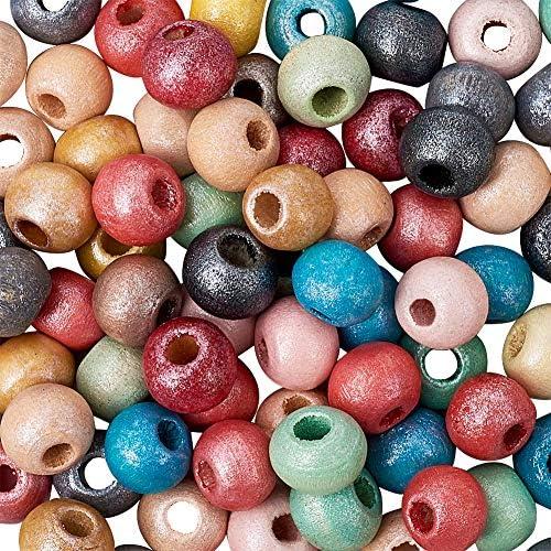 200pcs//Lot Abacus Multicoloured Wood Beads Mixed Lead Free Loose Bead 4mm
