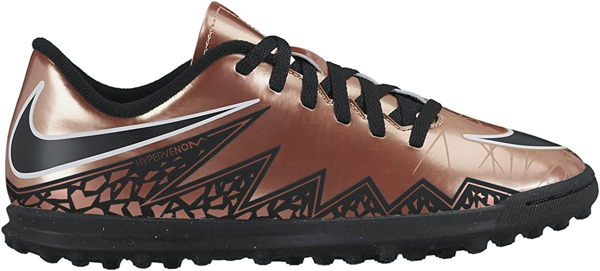2.5 749912-903 Size Nike Jr Hypervenom Phade Ii Tf Sneakers Boys//Girls Style