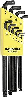 "product image for Bondhus 16538 Set of 10 Balldriver Stubby L-wrenches, sizes 1/16-1/4"""
