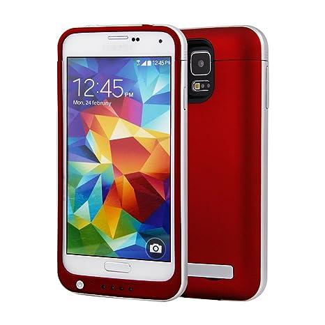 Amazon.com: Galaxy S5 batería Caso, newnow 4200 mAh USB ...