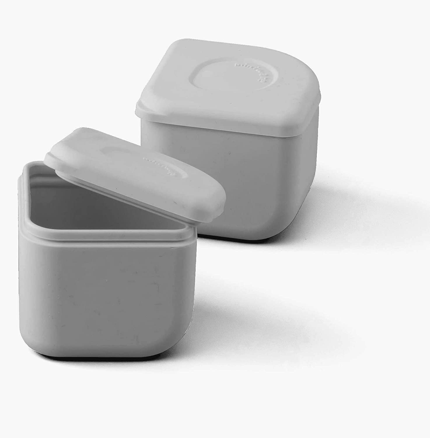 Miniware Silipods Grey 2 Pack | Leakproof Durable Food Grade Silicone Hot and Cold Food Storage for Baby Toddler Kids | Dishwasher, Fridge, and Freezer Safe | for Purees, Soups, Dressings, and More