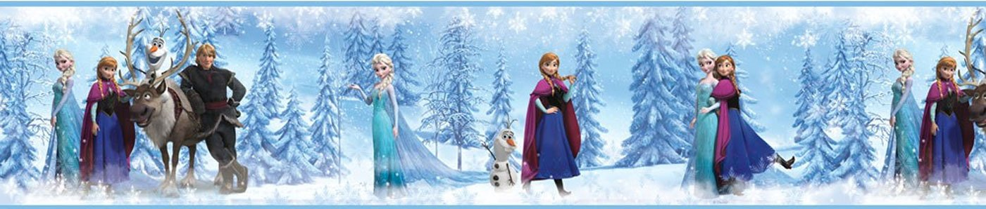 Set Of 4 Disney Frozen Self Stick Wall Borders Queen Elsa Princess Anna