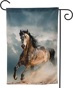 """YISHOW Wild Running Horse Garden Flag Double Sided Vertical Wild Running Horses House Flags Yard Signs Outdoor Decor 12.5"""" X 18"""""""