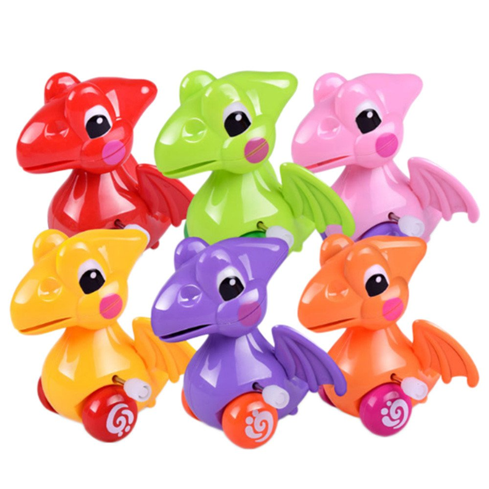 Funny Clockwork Toy Baby Cute Dinosaur Model Toy Baby Filed Gift for Kids (Random)