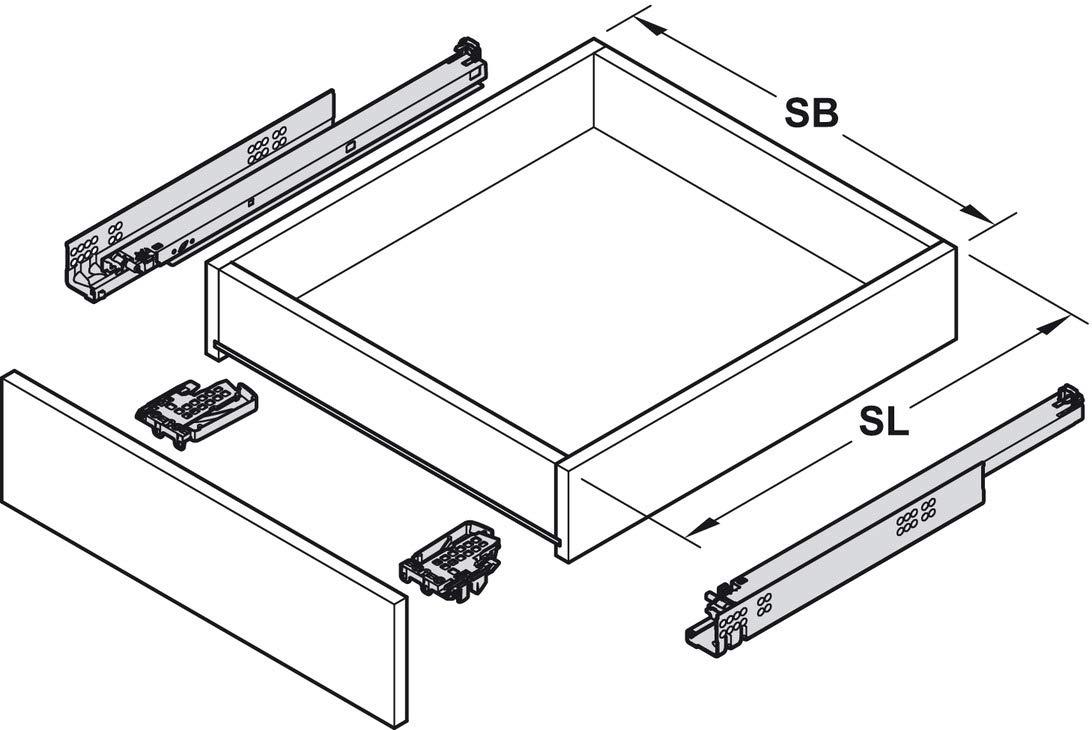 Blum Tandem 560H5000B 1 Paar M/öbelbeschl/äge Gedotec Schubladenschiene Vollauszug 500 mm mit Blumotion D/ämpfung Ausz/üge Kupplungen Soft-Closing Schubladen-Auszug inkl Tragkraft: 30 kg