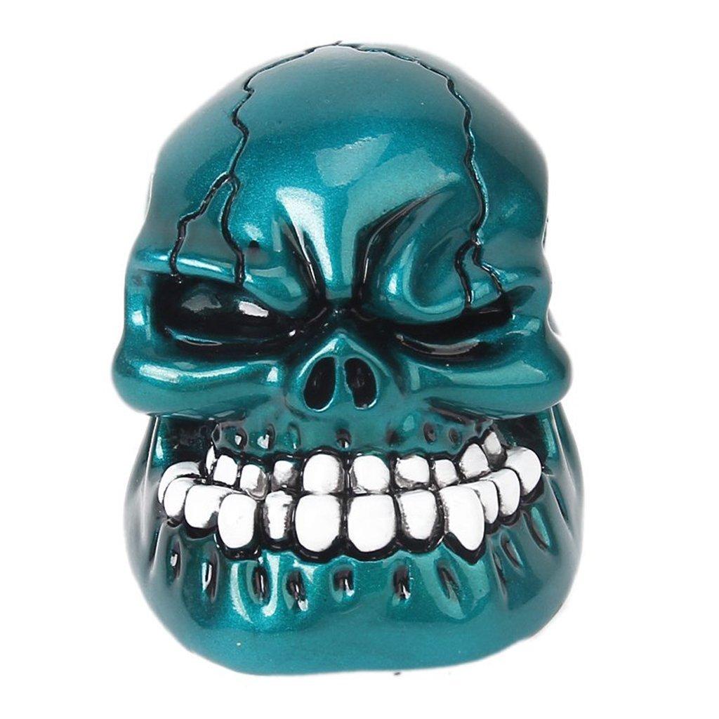 TOOGOO(R) Blu Resina Manovella cambio manuale del cranio umano 044658