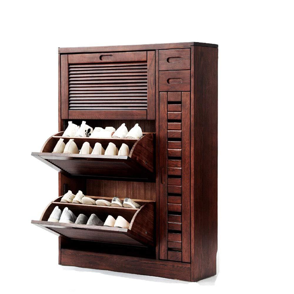YONGYONG 靴キャビネット木製キャビネット靴キャビネットドアストレージモダンシューズ2層ドア2グリッドストレージストレージシューズ家具靴ラック超薄型靴スペース省スペース超薄型 幅63*129*25cm(ブラウン) (サイズ さいず : 63*129*25cm) 63*129*25cm  B076V998Z4