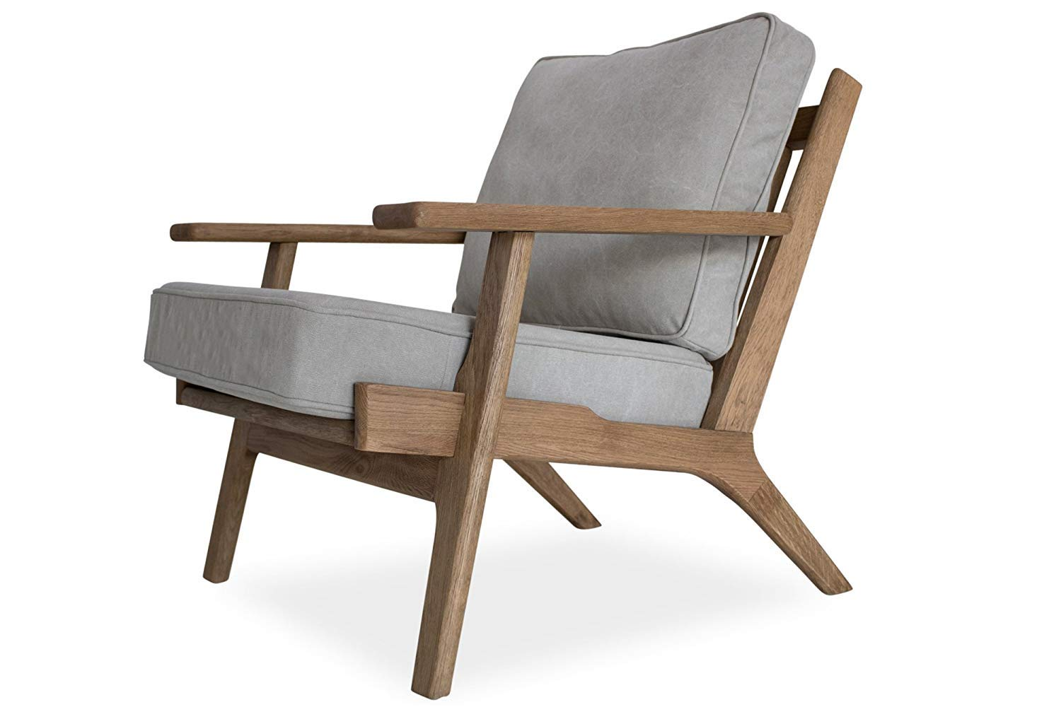 Edloe Finch Webster Mid-Century Modern Accent Lounge Plank Chair, Gray by Edloe Finch