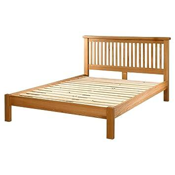 Somier de madera de roble macizo 182,88 cm Super King Size cama - bajo pie Junta: Amazon.es: Hogar