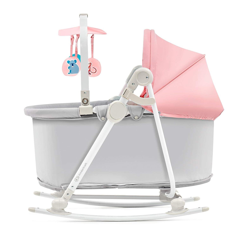 hellblau Kinderkraft Babywippe UNIMO 5 in 1 Elektrisch Schaukelwippe Babyschaukel mit Spielbogen Schaukelfunktion Verstellbare ab Geburt