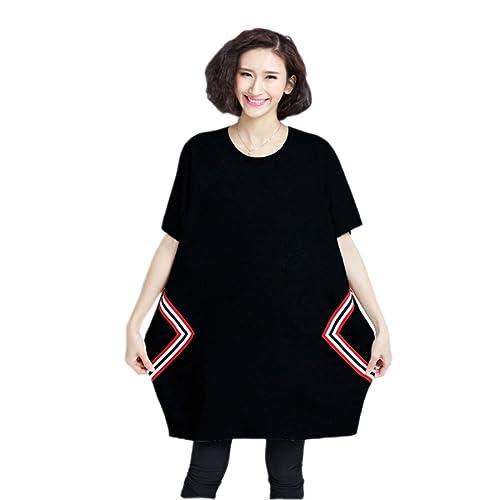 Vestido De La Manera De Gran Tamaño Sueltos HGDRSpring Y Verano De Las Mujeres