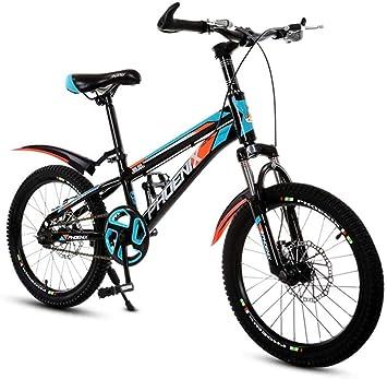 CSS Bicicleta para niños Bicicleta de montaña de velocidad variable de 20 pulgadas, sillín cómodo, pedal antideslizante, horquilla de suspensión, freno seguro y sensible 6-24,20 pulgadas: Amazon.es: Bricolaje y herramientas