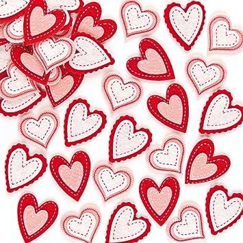Wunderschöne Aufkleber Aus Filz   Herz   Sticker Für Kinder Zum Basteln  Ideal Zum Valentinstag Und