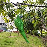 S&F Life Size Hanging Parrot Statue Like a Real Parrot Patio Lawn Ideal Decor for Nature Lovers Tropical Bird Collectors Summer Theme