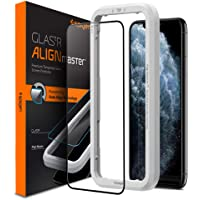 Spigen iPhone 11 Pro MAX AlignMaster Tempered Glass Screen Protector with Auto Align Technology - Edge to Edge