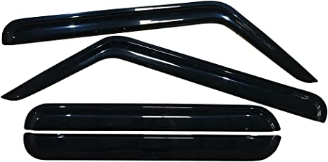 IN CHANNEL RAIN GUARDS FOR JEEP COMMANDER 4 PIECE SET 2006-2010