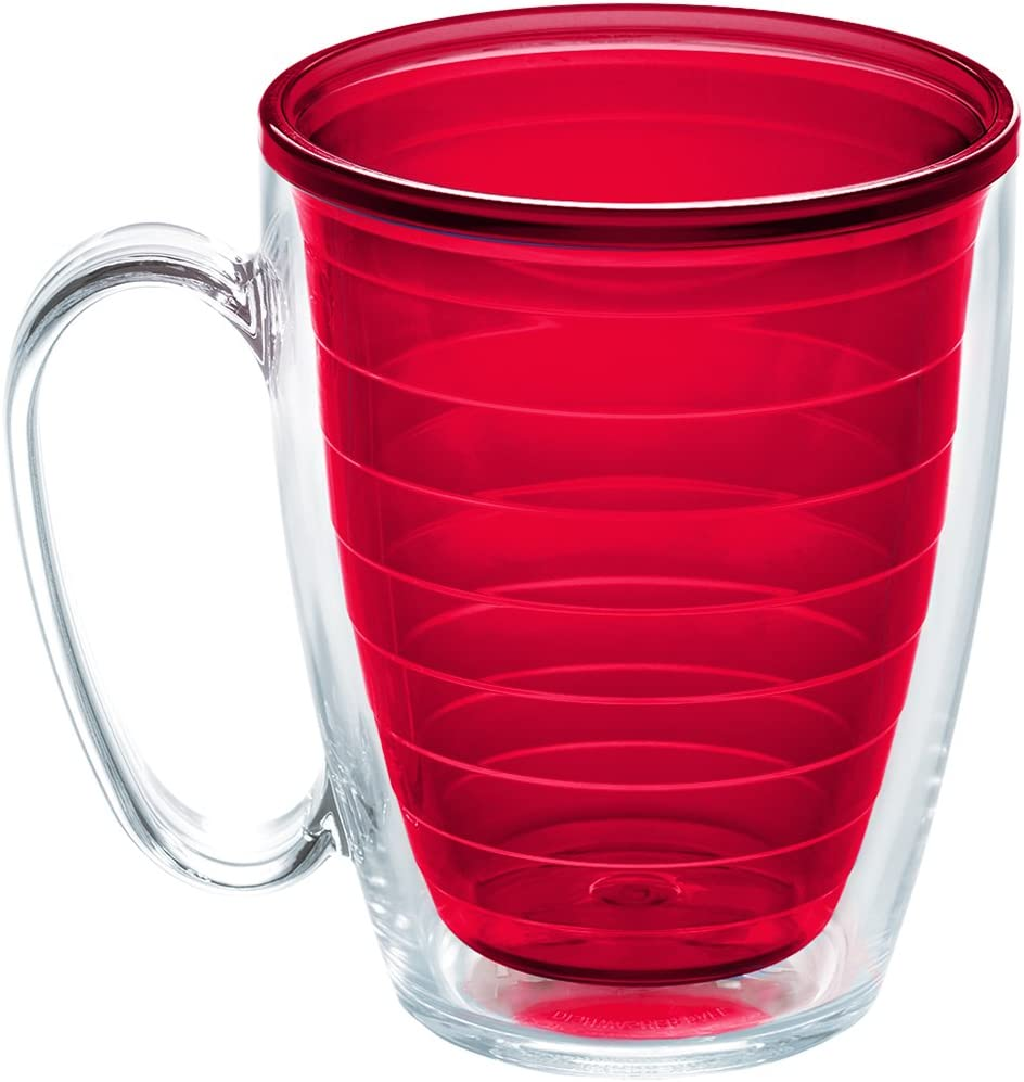 Tervis Clear & Colorful Color Collection Red NA 16oz Mug Inner with No Lid, 16 oz Tritan