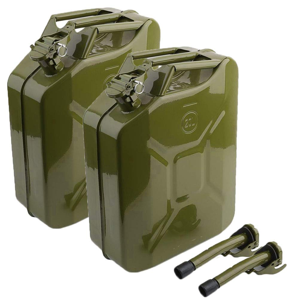 2 x 10 Litre Jerry Can Water Storage Petrol Diesel Fuel Container Camping 10L