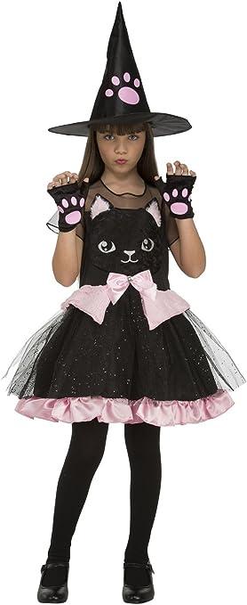 My Other Me Me-204019 Disfraz de bruja gatito para niña, 7-9 años ...