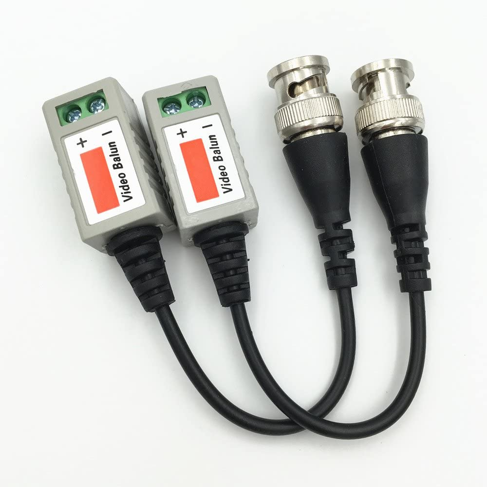 100PCS//50Pairs Twisted CCTV Video Balun Passive Transceivers 3000FT Distance UTP Balun BNC Cable Cat5 CCTV UTP Video Balun