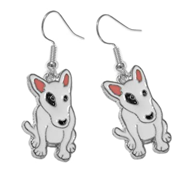 Pitbull Dog Pierced Earrings on Hypoallergenic Ear Wires: Arts, Crafts & Sewing