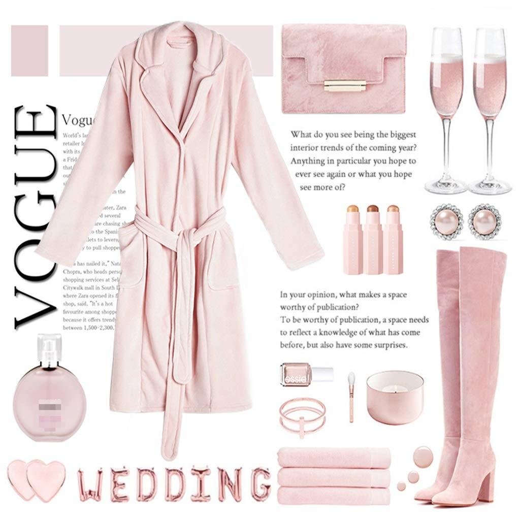 Albornoces De Moda Se Pueden Usar Fuera del Chal del Manto Albornoz Toalla De Baño Camisón Pijamas De Moda | Mujer | Rosado (Tamaño : L): Amazon.es: Hogar