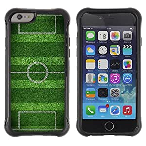 "TopCaseStore Hybrid Rubber Case Hard Cover Protection All-Round Skin for Apple iPhone 6 PLUS (5.5"") - soccer field goal game goal"