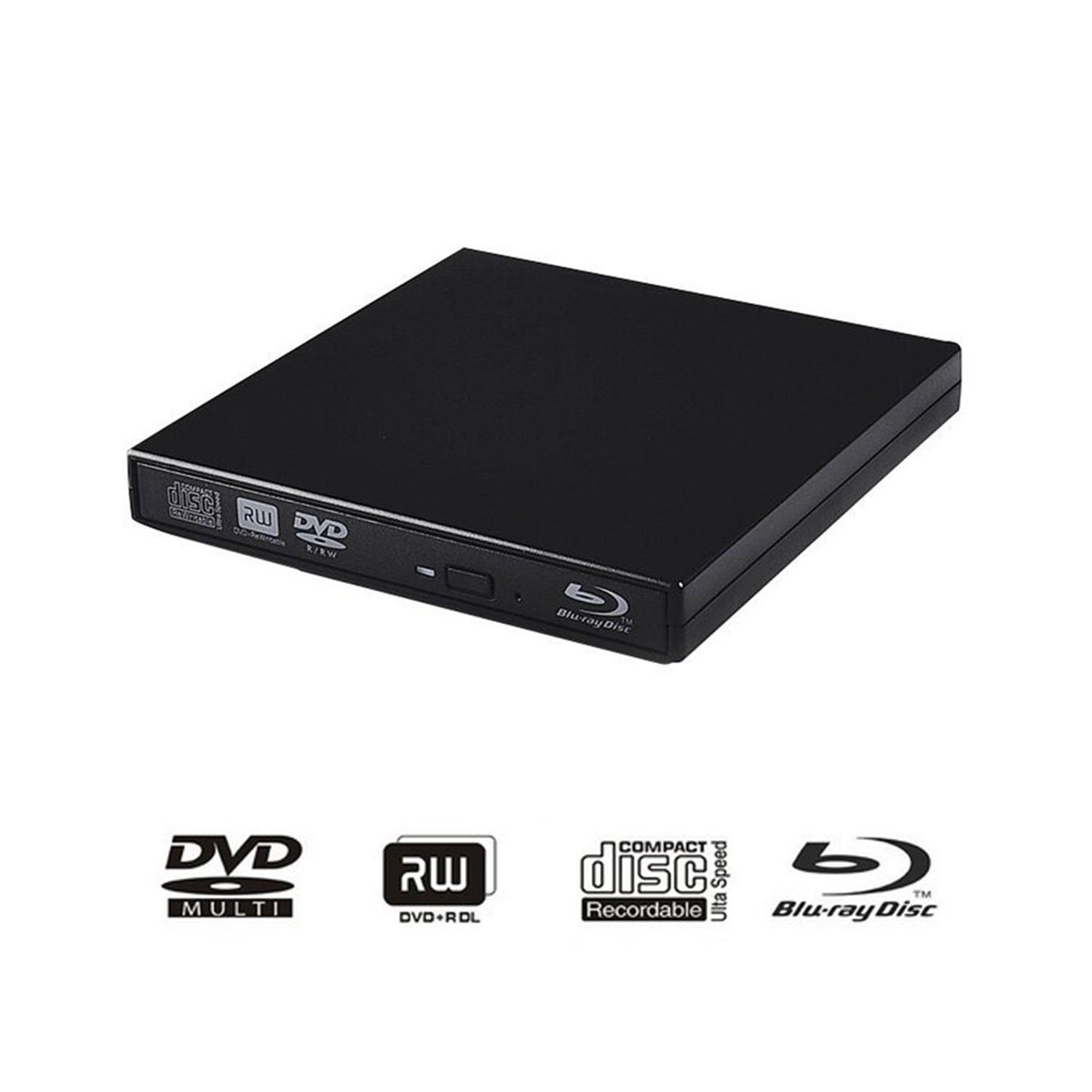 External blu-ray DVD Drive for PC Computer USB 2.0 DVD Player CD Burner BD-ROM DVD/CD-RW Support Super-Laptop Desktop Notebook PC by tengertang (Image #1)